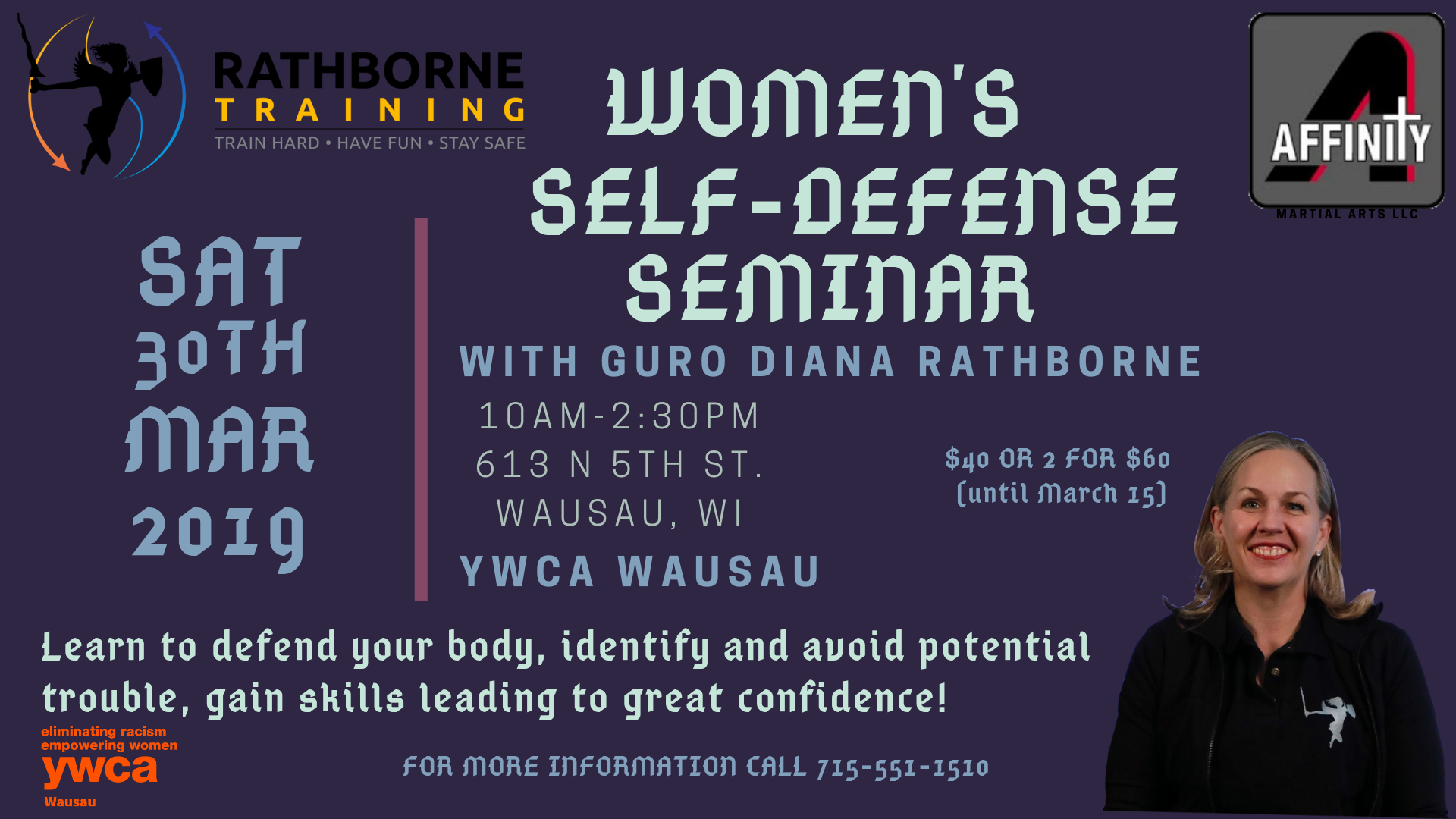 Women's Self Defense Class @ YWCA Wausau | Wausau | Wisconsin | United States